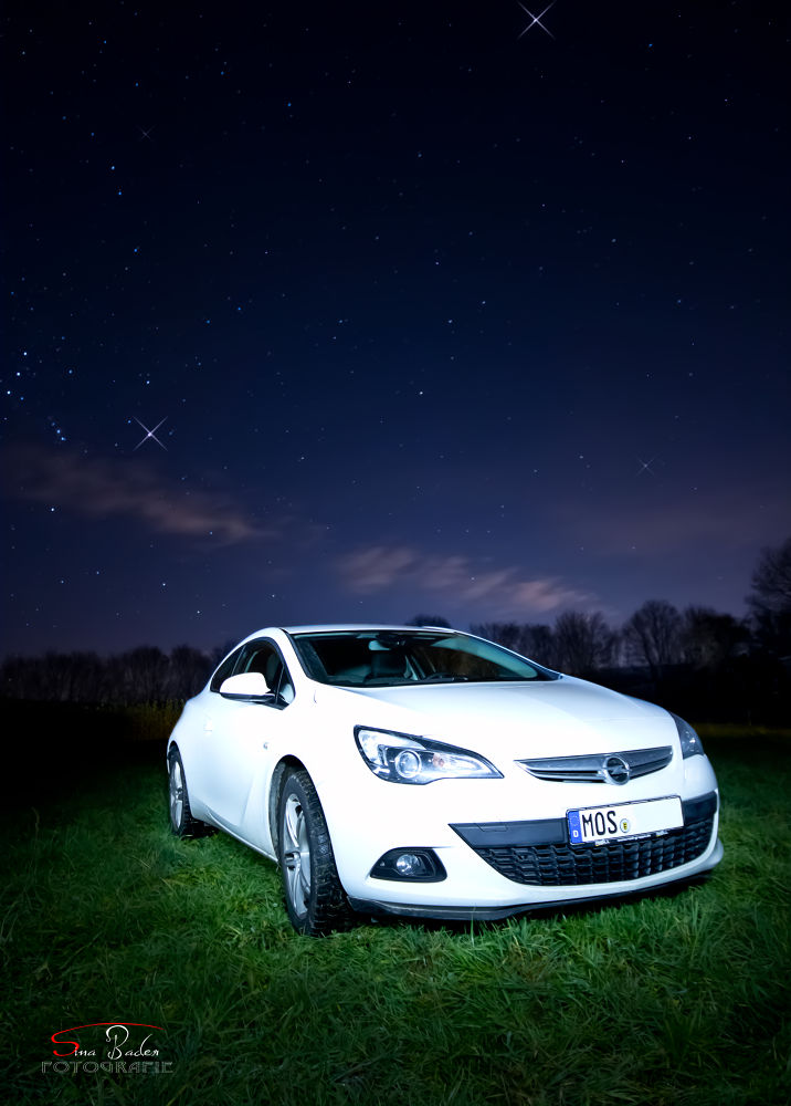 Photo in Random #car #astra #opel #vauxhall #gtc #opc #nice #drive #ps #120 #canon #70d #langzeitbelichtung #night #light #yn565 #fast #stars #wood #germany #deutschland #sina