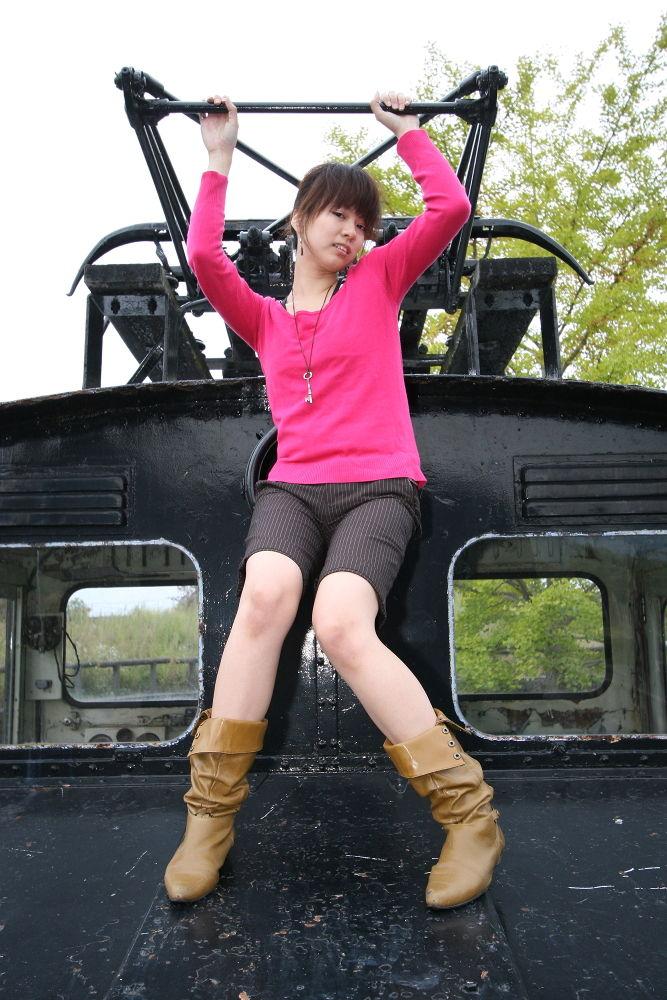 Photo in Portrait #train #girl