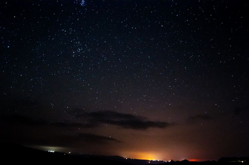 Night over valley by Faik Nagiyev