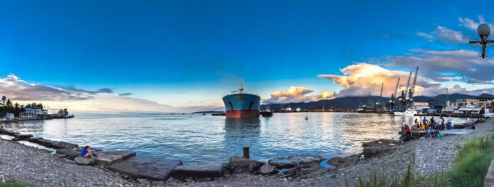 Port Batumi by Faik Nagiyev