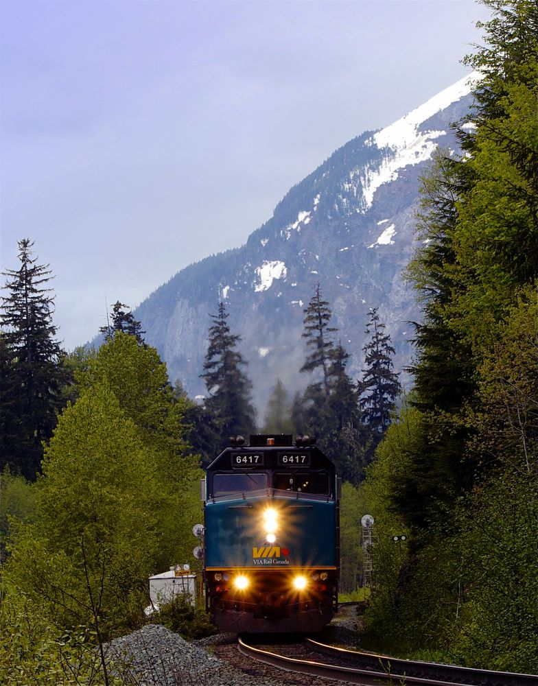 Photo in Fine Art #mountains #train #snow #country #railroad