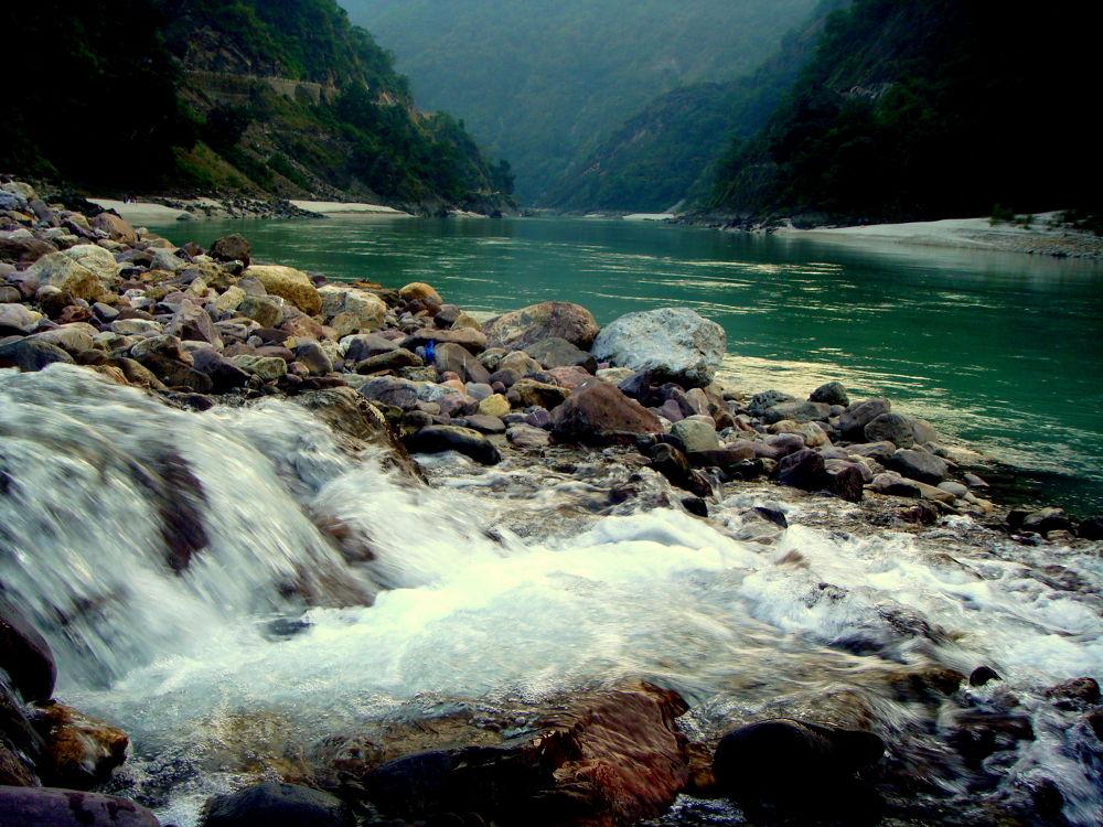 River & falls by saharajib
