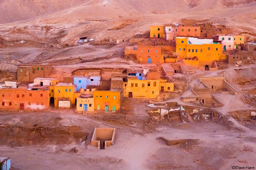 Photo in Travel #egypt #egyptian #homes #dwellings #ruin #ruined #ruins #derelict #valley of the kings #cairo #dave hare #colour #color #colourful #colorful #colors #colours #yellow #orange