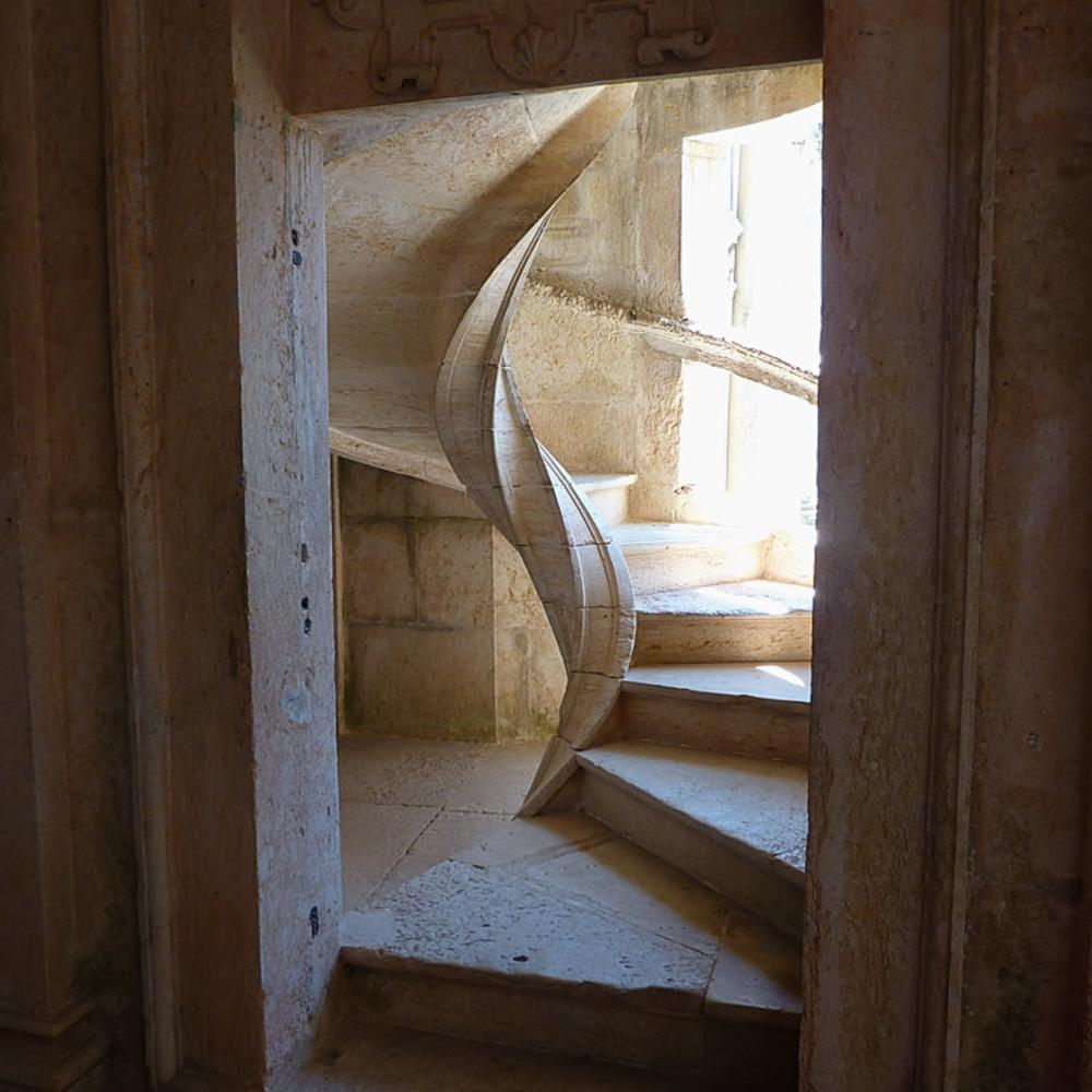 Stairs at Convento de Cristo, Tomar (Portugal) by Asterix93