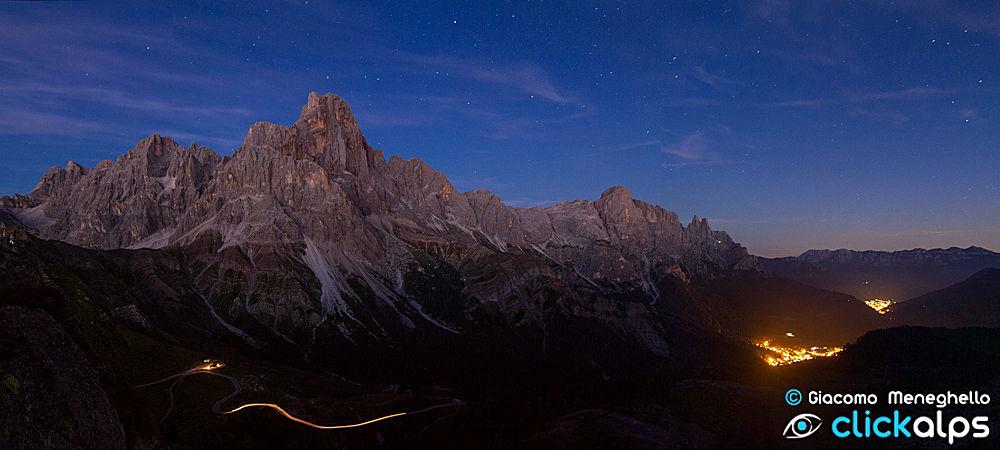 Paesaggi_Dolomiti_Pale_San_Martino_Castrozza_panoramica_notturna_GM-13-22 by giacomonmeneghello