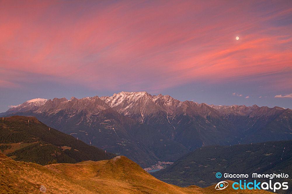 Pink Alps by giacomonmeneghello