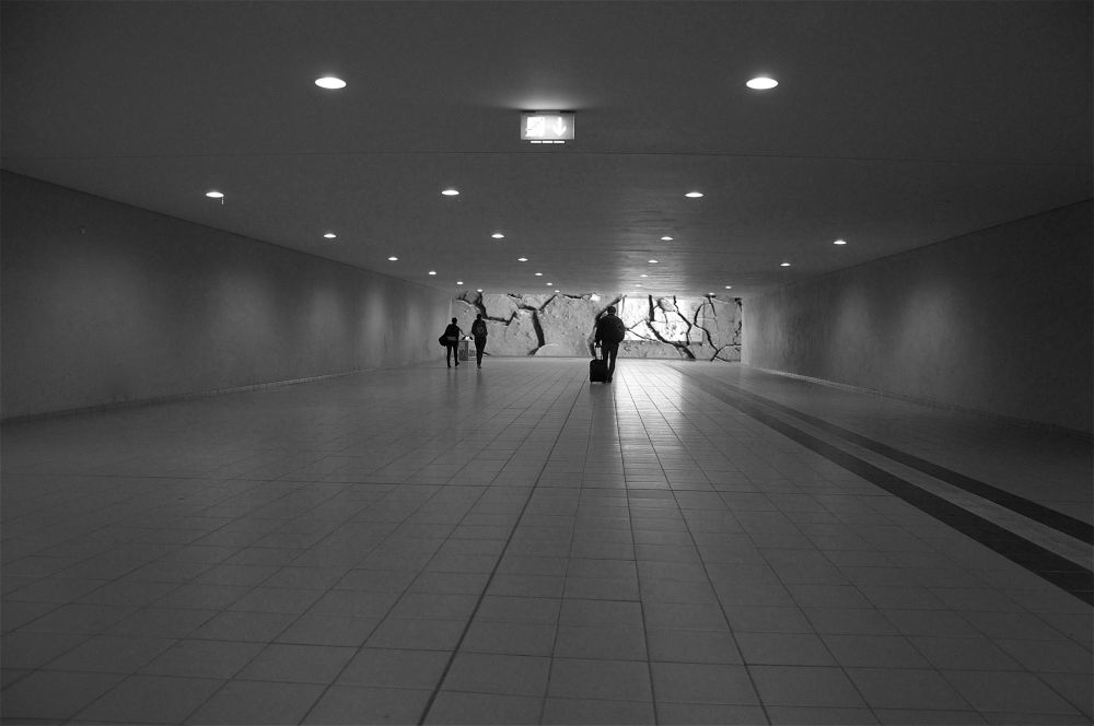 Photo in Black and White #station #travel