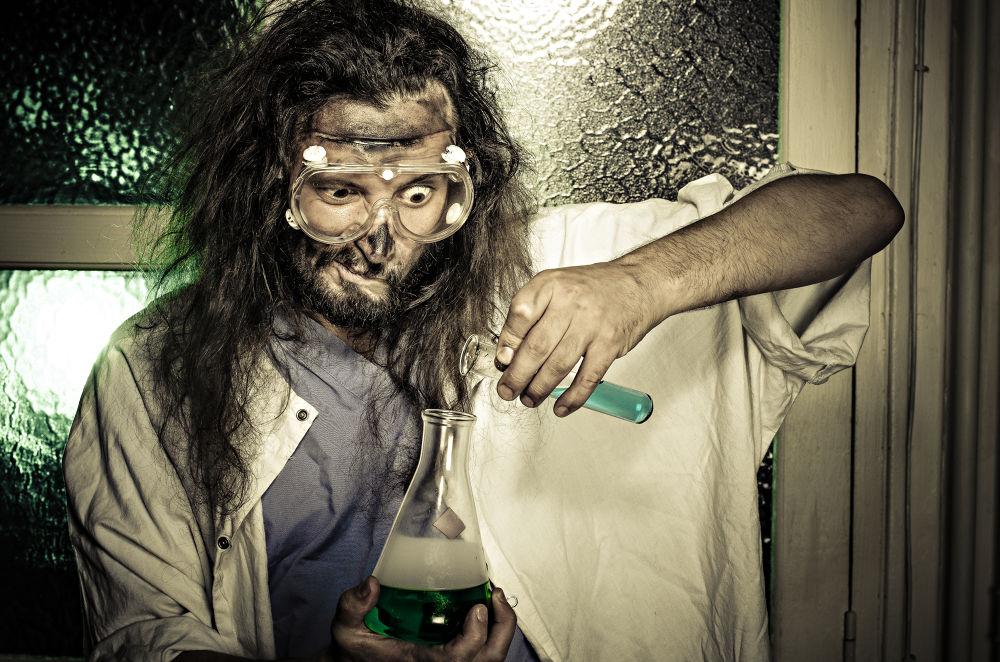 Insane scientist by Dr. weird