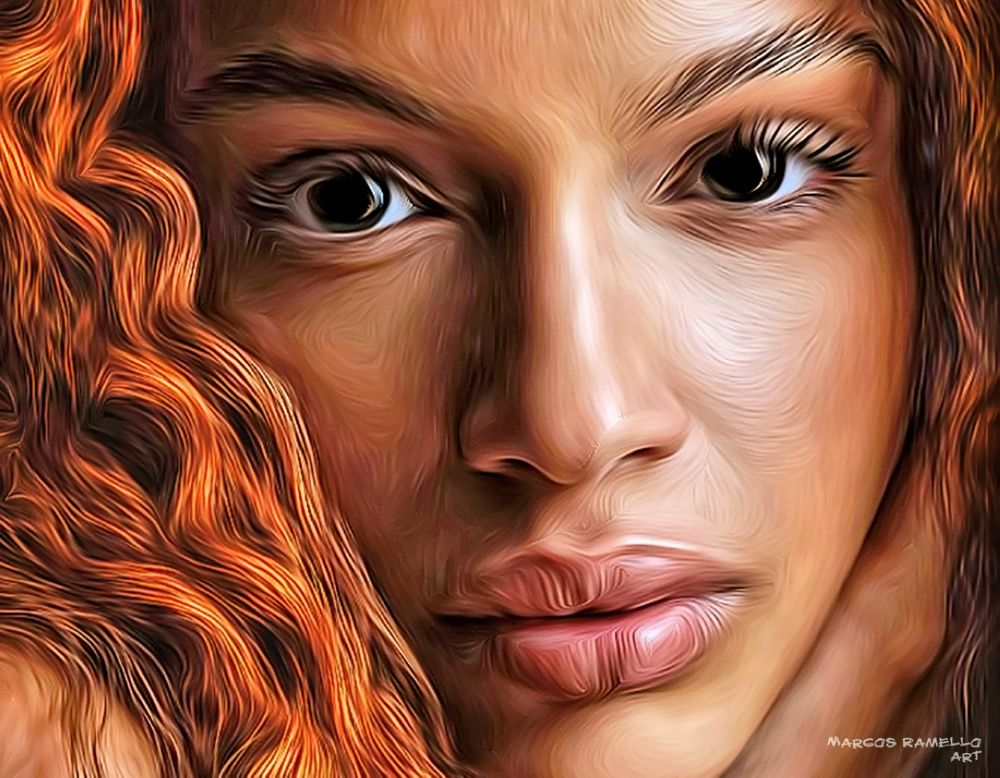 Faces of Woman (5) by Marcos Ramello