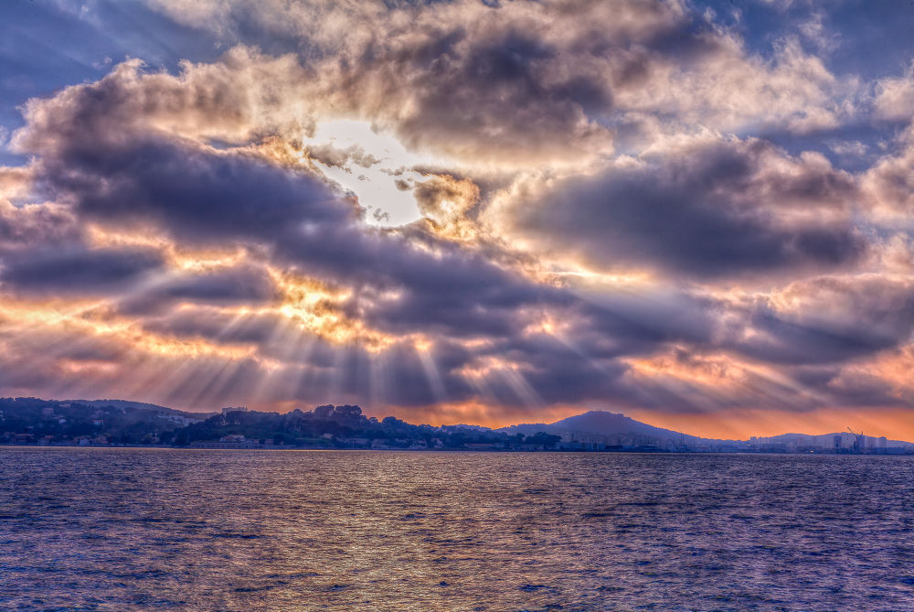Sunset at Toulon by Patrice CHAMPEY