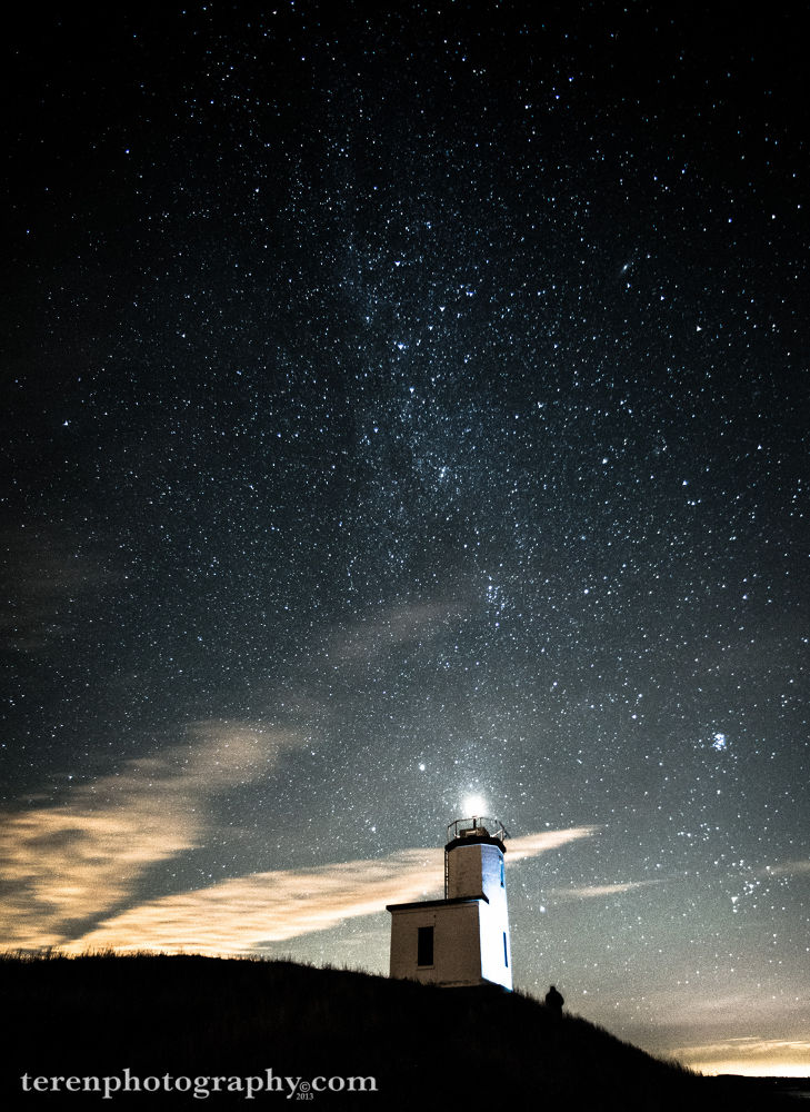 Exploring the Cattle Point Lighthouse under the Milky Way - San Juan Island, WA by Teren Photography