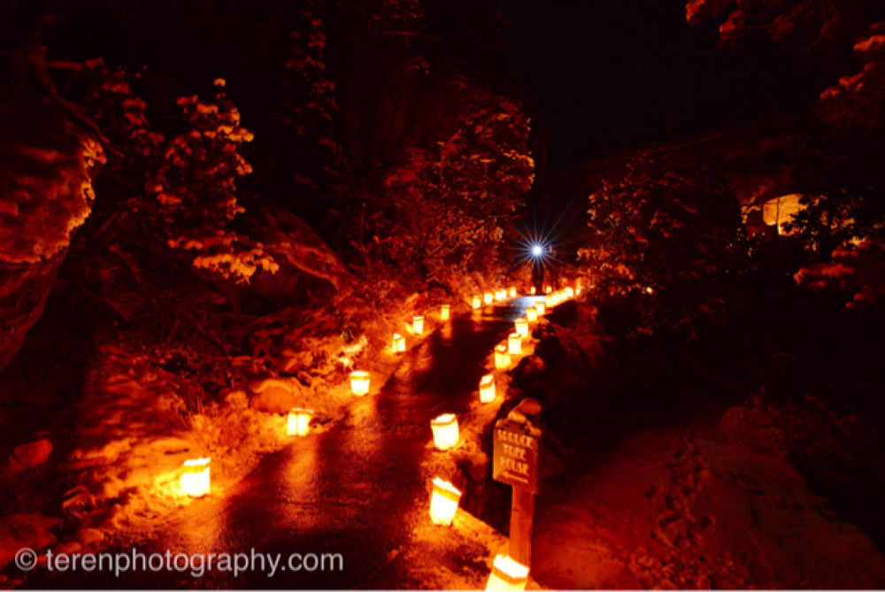 Luminarias in Mesa Verde National Park by Teren Photography