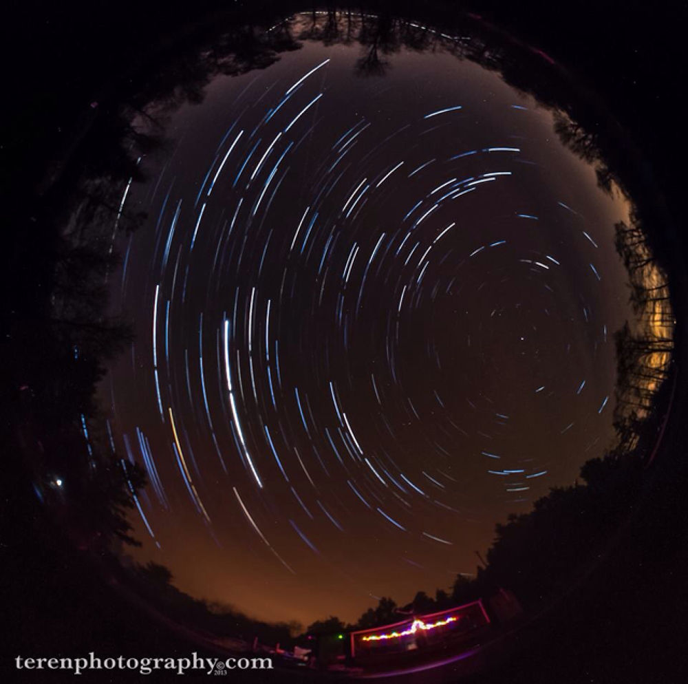 Whole-Sky Fisheye Star Circles by Teren Photography