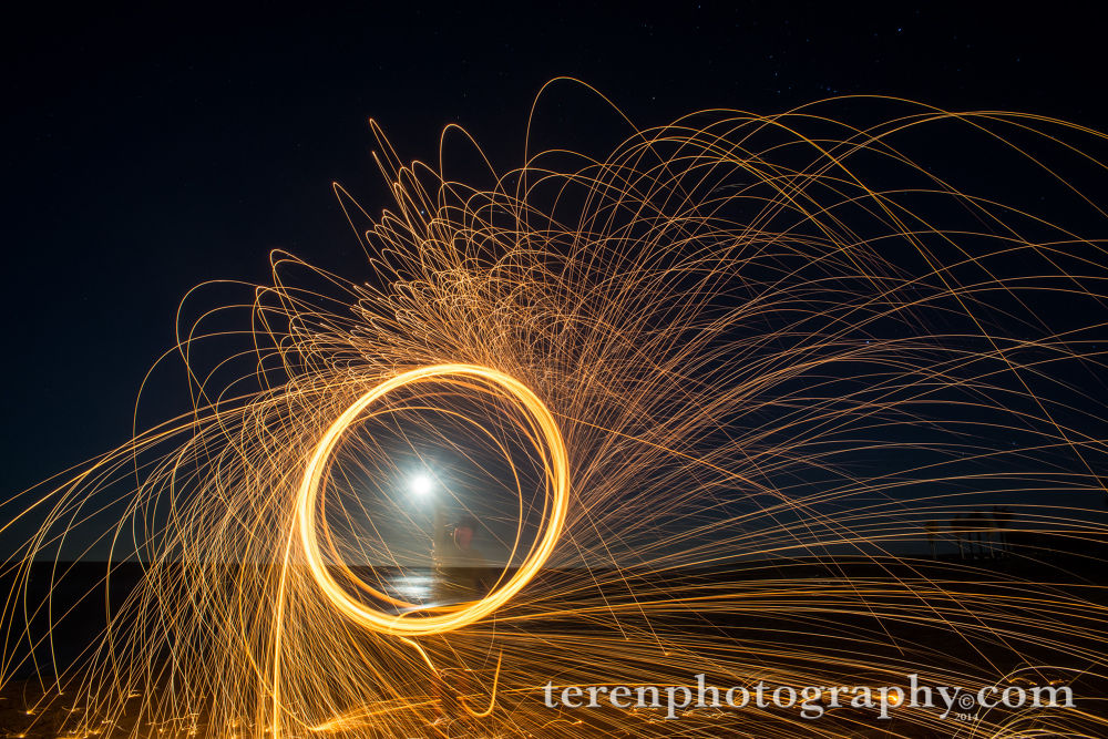 Moon Dog on Fire by Teren Photography