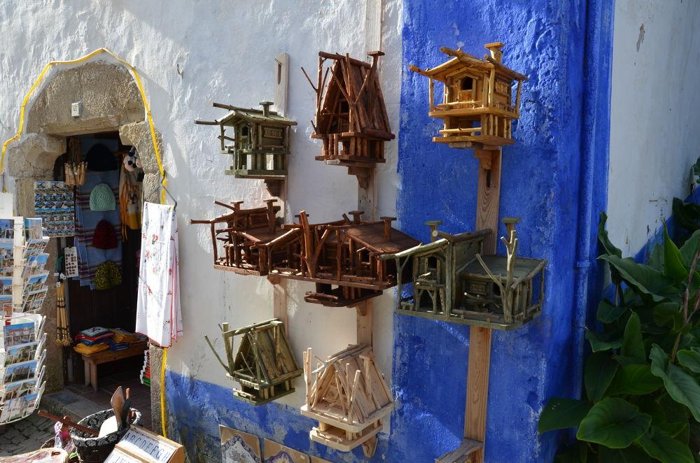 Photo in Random #birds #óbidos #christmas village #contrasts #wooden houses