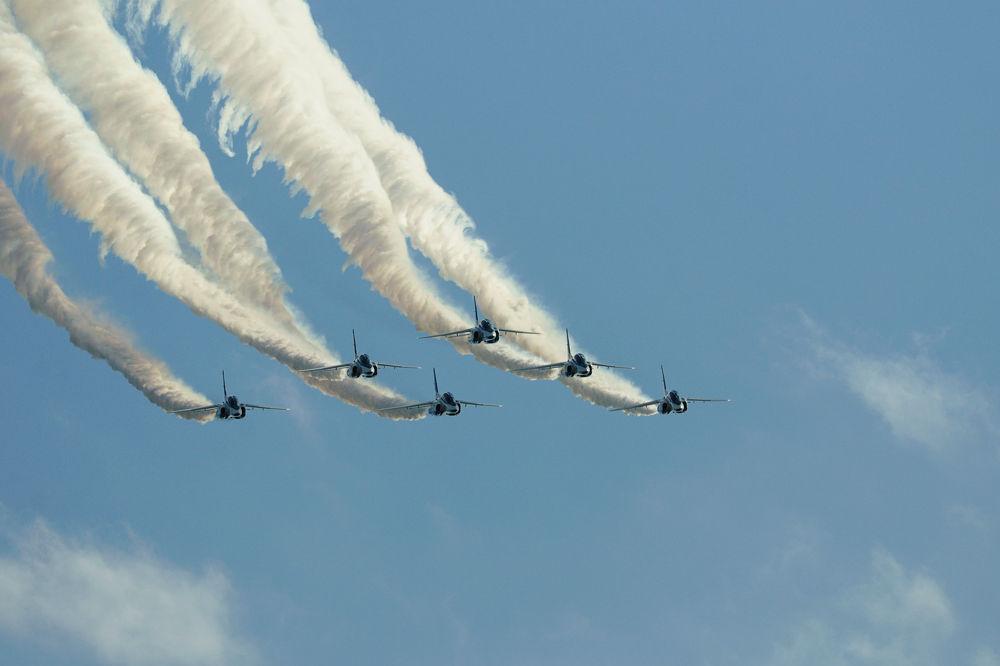 Photo in Vehicle #blue impulse #jet #jasdf #t-4 #ypa2013
