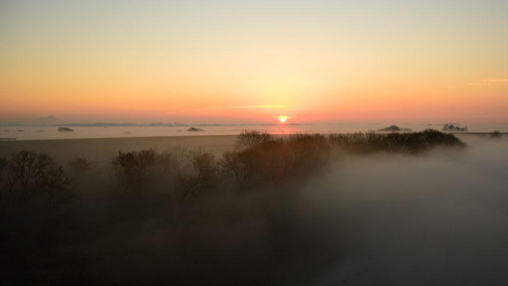 Photo in Landscape #fog #dawn #sun #sunrize #river #ypa2013