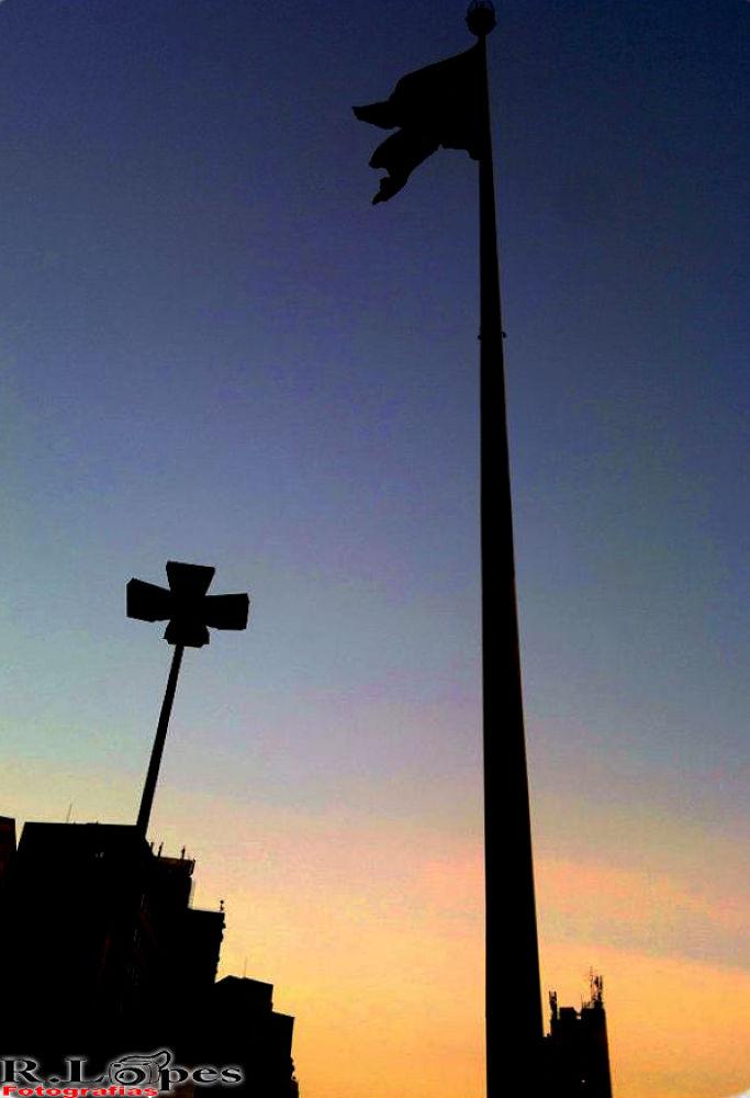 Photo in Random #brasil #bandeira #crepúsculo