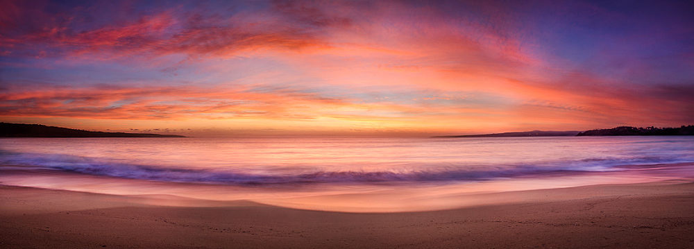 Photo in Sea and Sand #waterscape #landscape #sunrise #sunset #2014 #new year #ocean #beach #australia