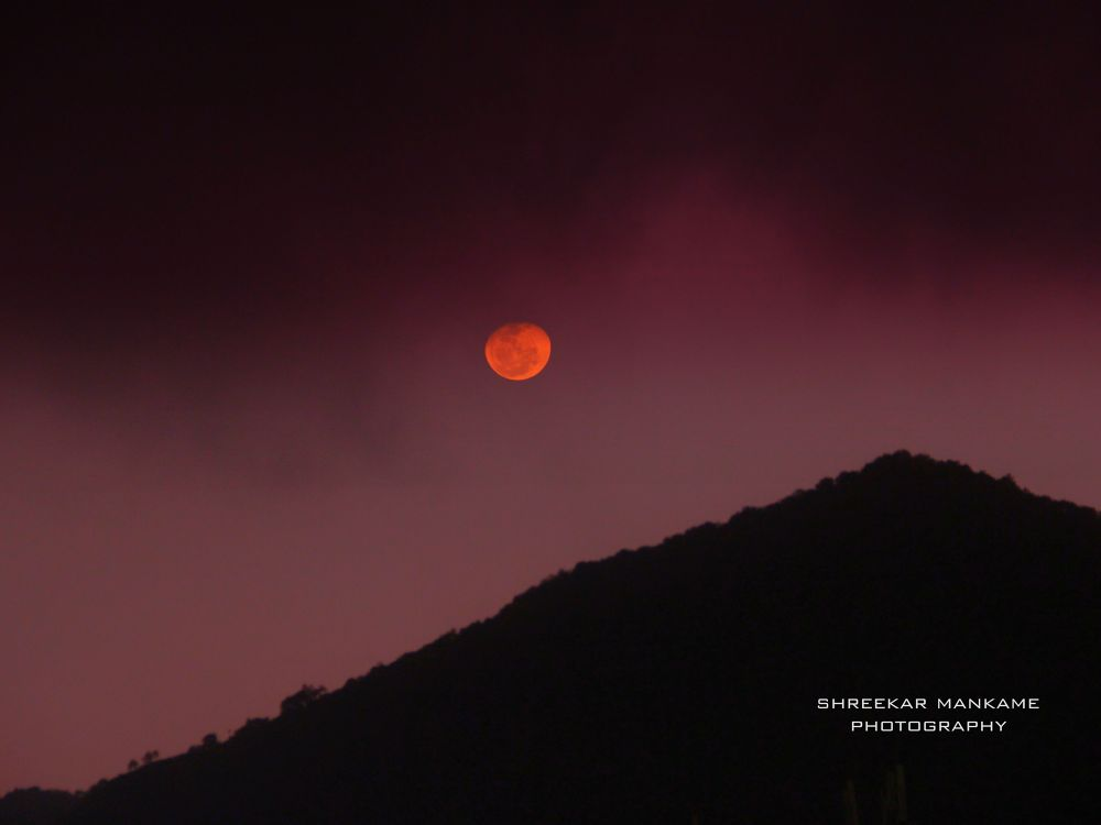 Photo in Random #newest #photography #inspiration #moon #sky #mountain #landscape