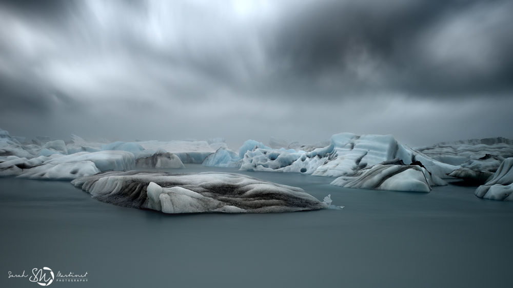 blue ice world by Sarah Martinet