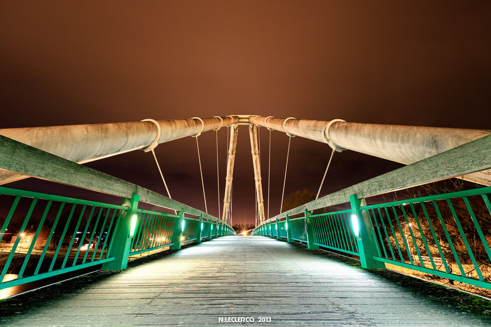 Illuminated Bridge by Hades