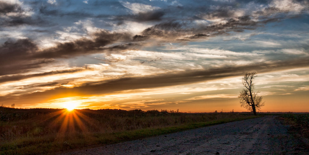 Fall Sunset by Michel Filion