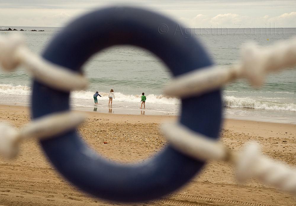 Playa de Santa Marina, Ribadesella, Asturias by Agustin Zorrilla