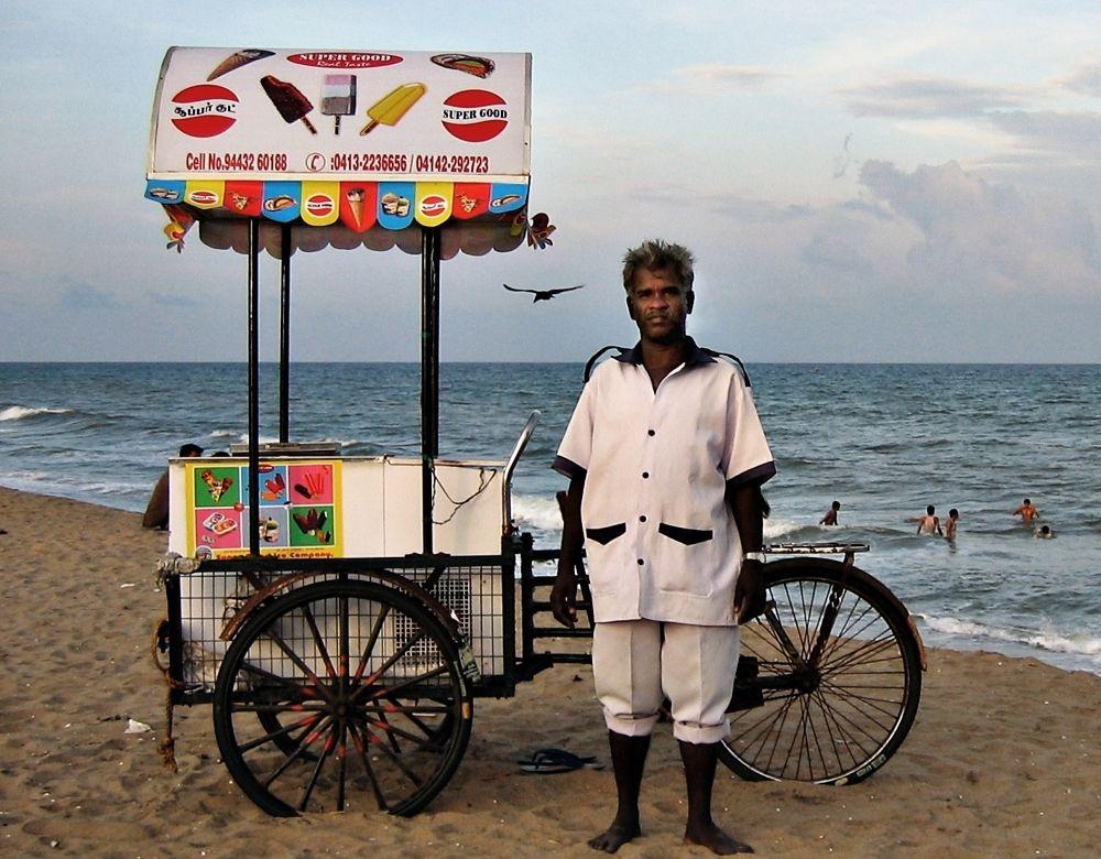 Ice cream seller by Mishel Breen