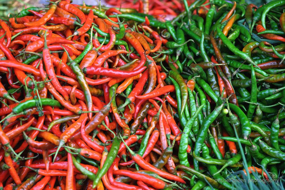 Chili pepper by Mishel Breen