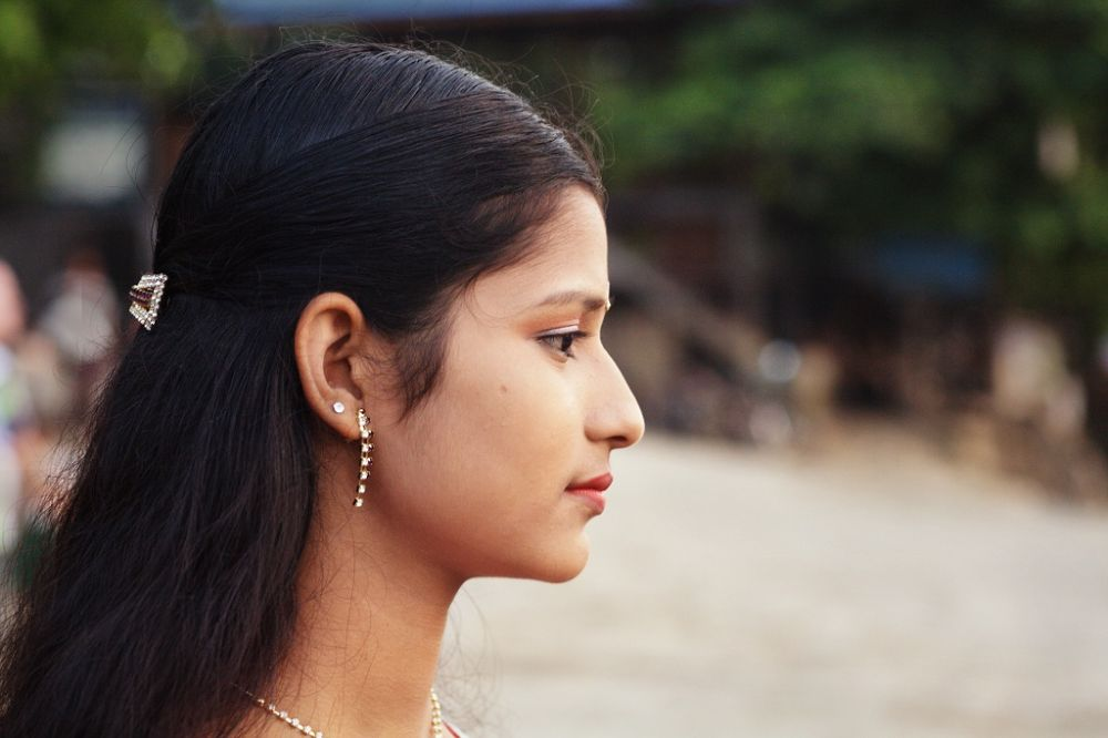 Indian girl from Mandalay by Mishel Breen