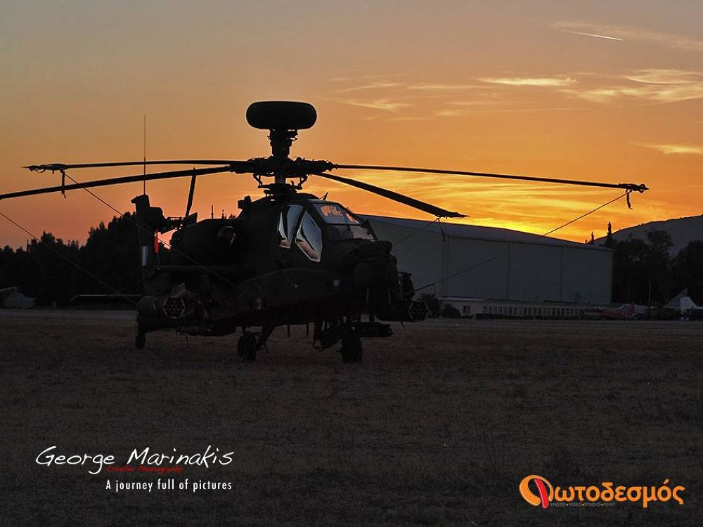 Apache Helicopter by george marinakis