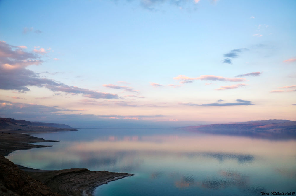 Sunset at the Dead Sea by vovamihalovich