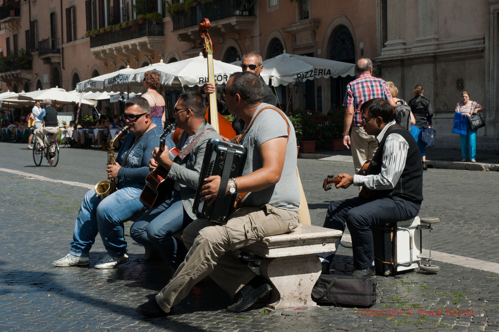 Street musicians by Pawel Gerula