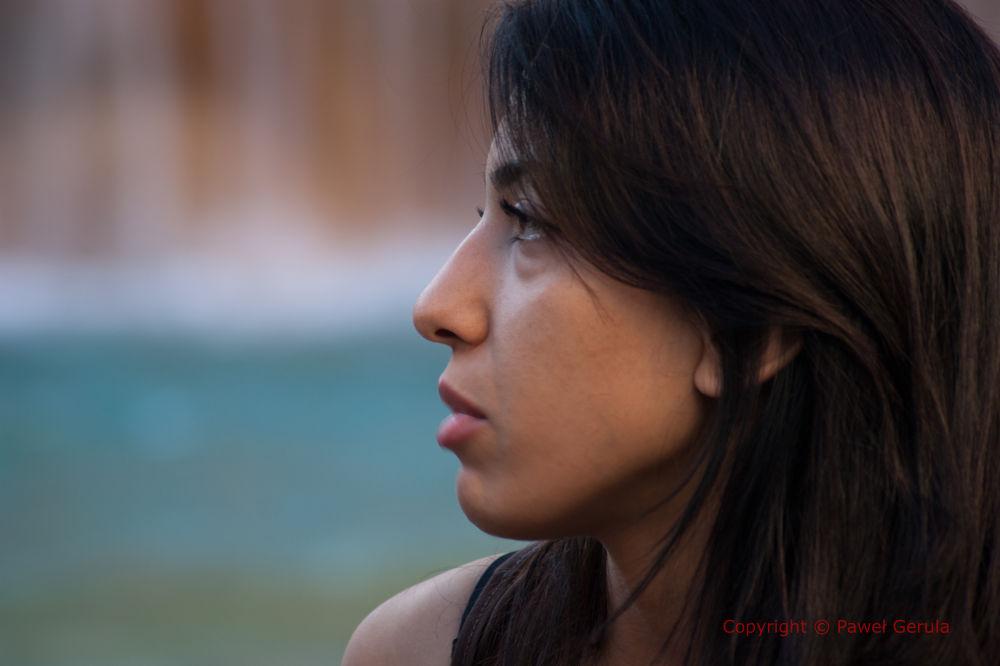 Girl on Trevi Fountain by Pawel Gerula