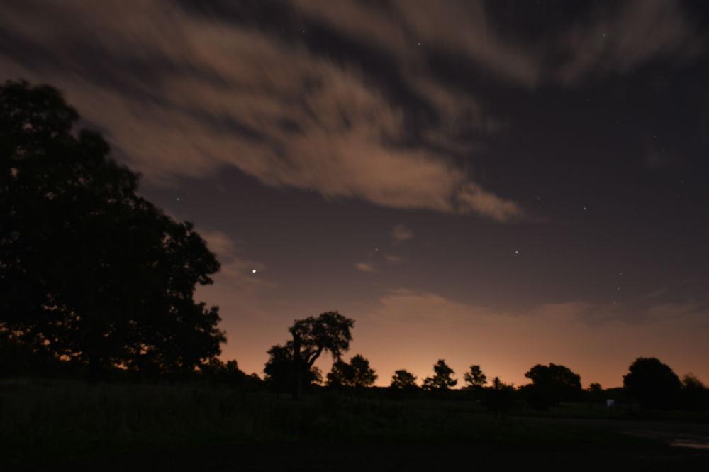 Photo in Random #night stars light road windsor