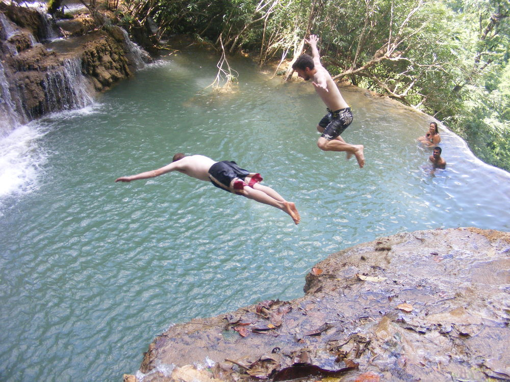 Jump To Freedom In Laos by NomadicFox Photo