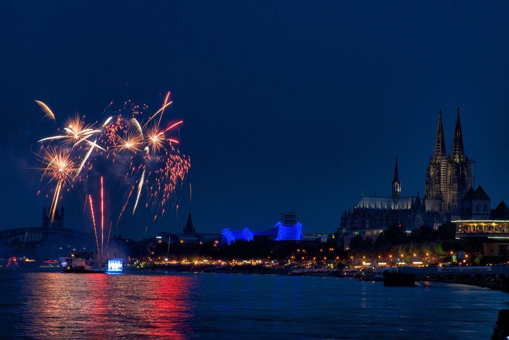 Cologne Fireworks by Joachim Lehmann