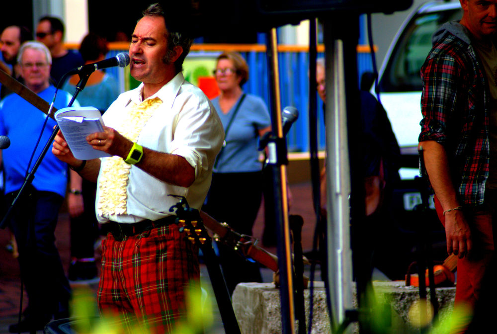 duane reads, poet at derby feste by craiggriffiths1485