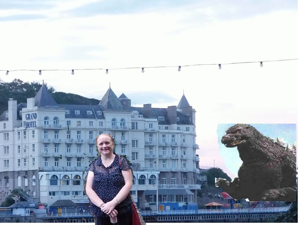 godzilla attacking a hotel when i was taking julies photo by craiggriffiths1485