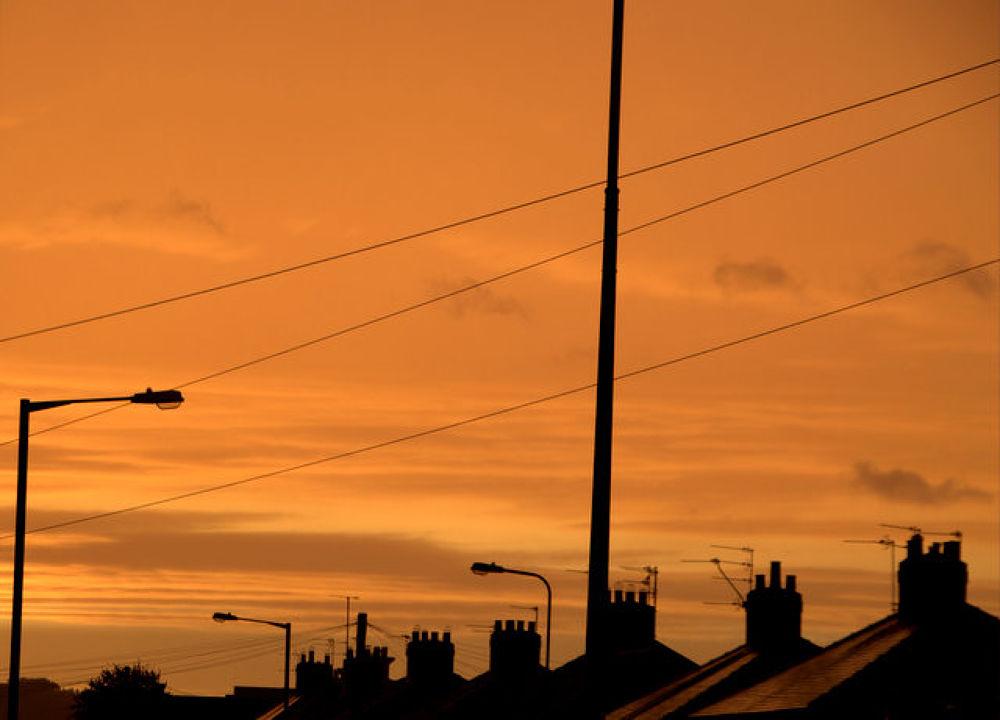 Suburban sunrise by johnandclare