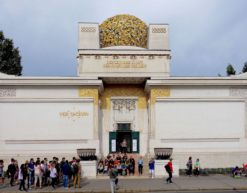 The Secession building in Vienna, Austria by Erwin Widmer