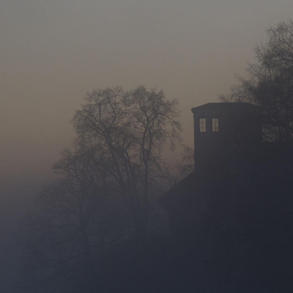 Photo in Landscape #landscape #fog #house #trees #norway