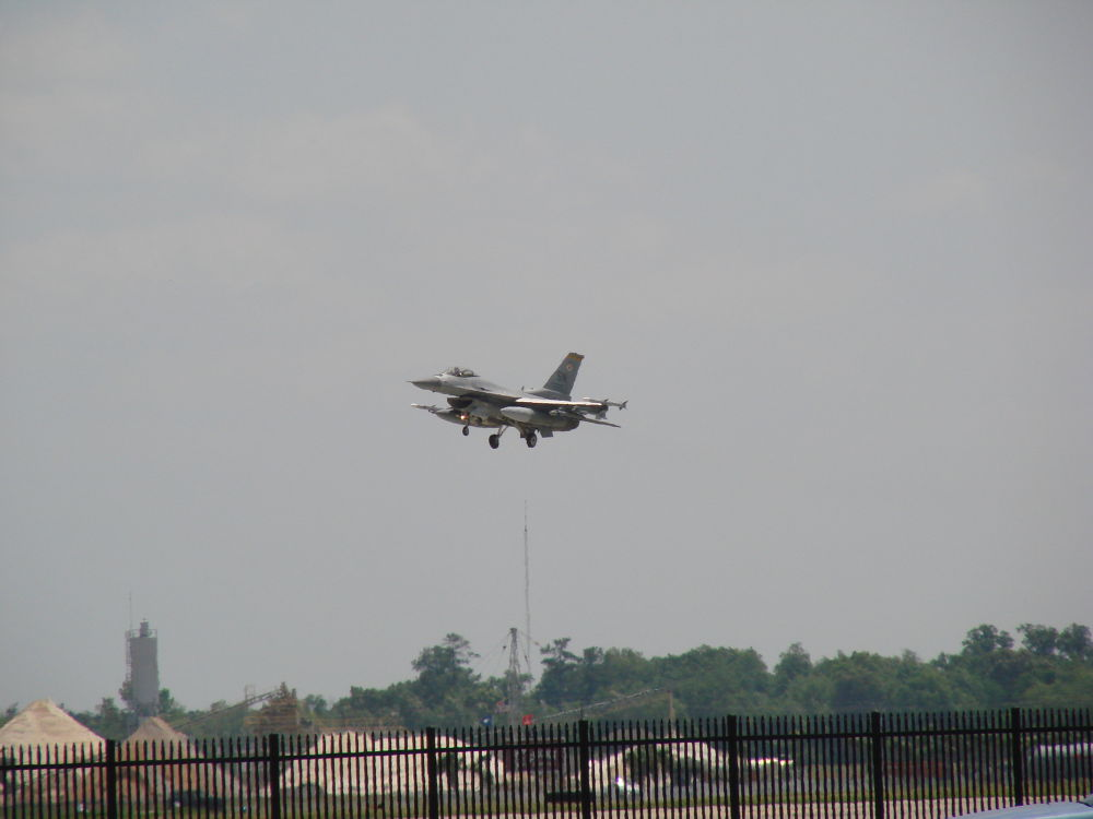 F16 Landing by Mike J Hargrave