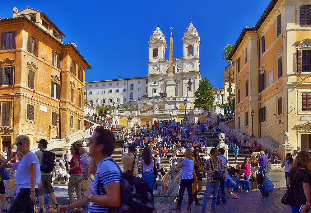 Tourists at Trinità dei Monti by tonixjesse