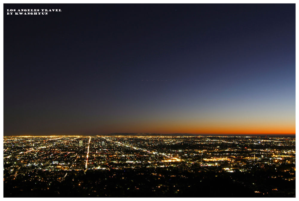 Los Angeles Cityscape After Sunset by visbimmer79