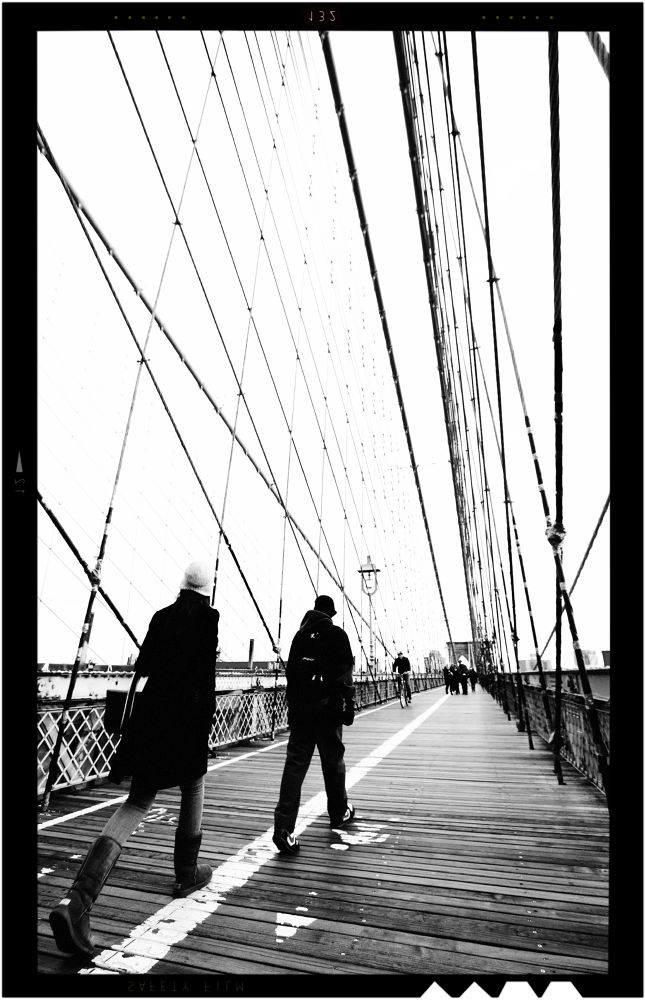 People Walking On The Bridge by visbimmer79