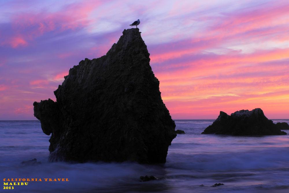 Sunset At Malibu Beach by visbimmer79