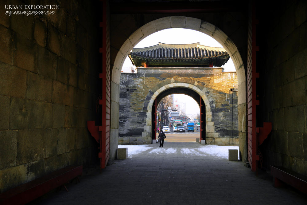 Photo in Architecture #suwon fortress #suwon city tour #nx20 #castle #street photography #winter trip in korea