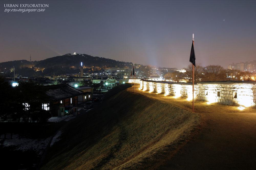Photo in Architecture #suwon fortress #suwon city travel attractions #josun dynasty #winter trip in korea #castle